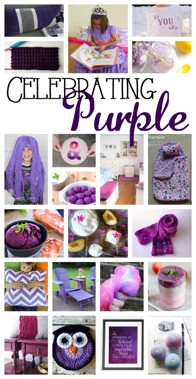 Purple crafts with free DIY tutorials