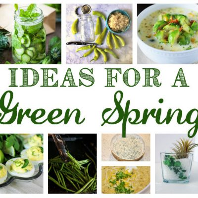 Green Spring Recipes Crafts and Block Party