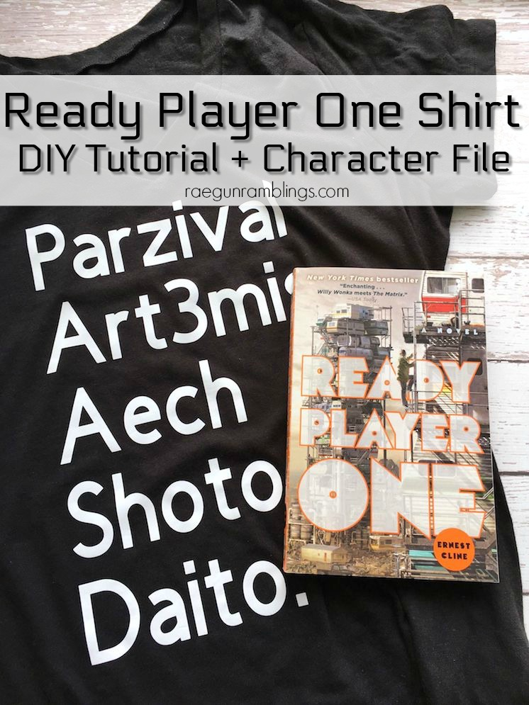 how to make a ready player one shirt great character file for the cricut-2