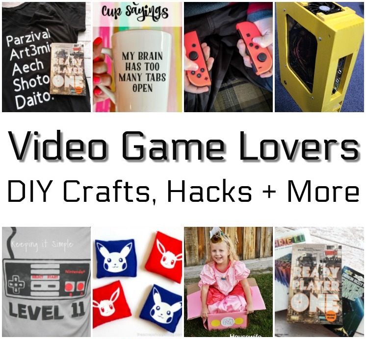 diy crafts and tips for video game lovers rae gun ramblings. Black Bedroom Furniture Sets. Home Design Ideas