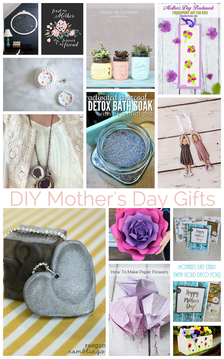 DIY Mothers Day Gifts with tutorials perfect handmade presents for Mother's Day