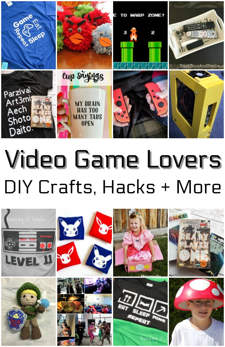 DIY crafts books and gift ideas for video game lovers