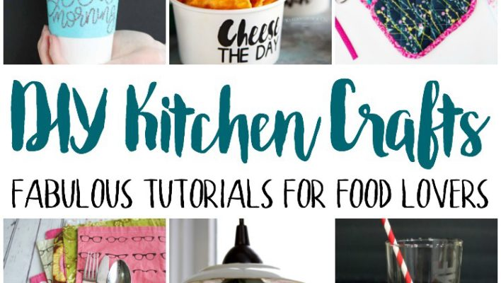 DIY Kitchen Craft Decor and Block Party