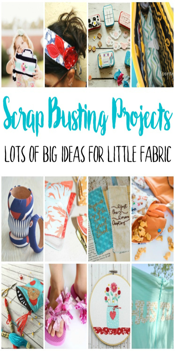 Tons of awesome DIY projects for using scraps of fabric. Great gift ideas and beginner sewing scrap buster projects. via @raegun