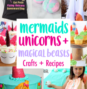 DIY mermaid unicorns and magical beasts Crafts and party ideas copy