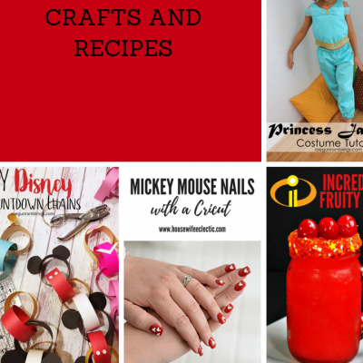 Disney Inspired Crafts Recipes and Block Party