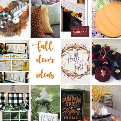 DIY Easy Fall Decor Ideas and Block Party