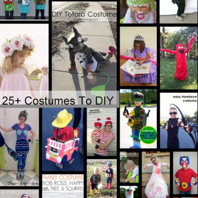 Homemade Costumes and Block Party
