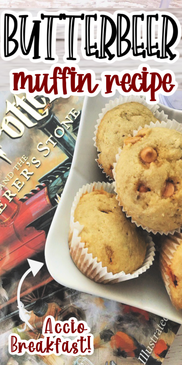Delicious and easy Butterbeer muffin recipe perfect for breakfast or snack via @raegun