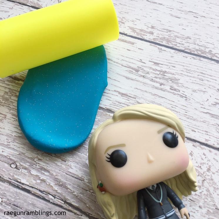 DIY glitter playdough tutorial and luna lovegood