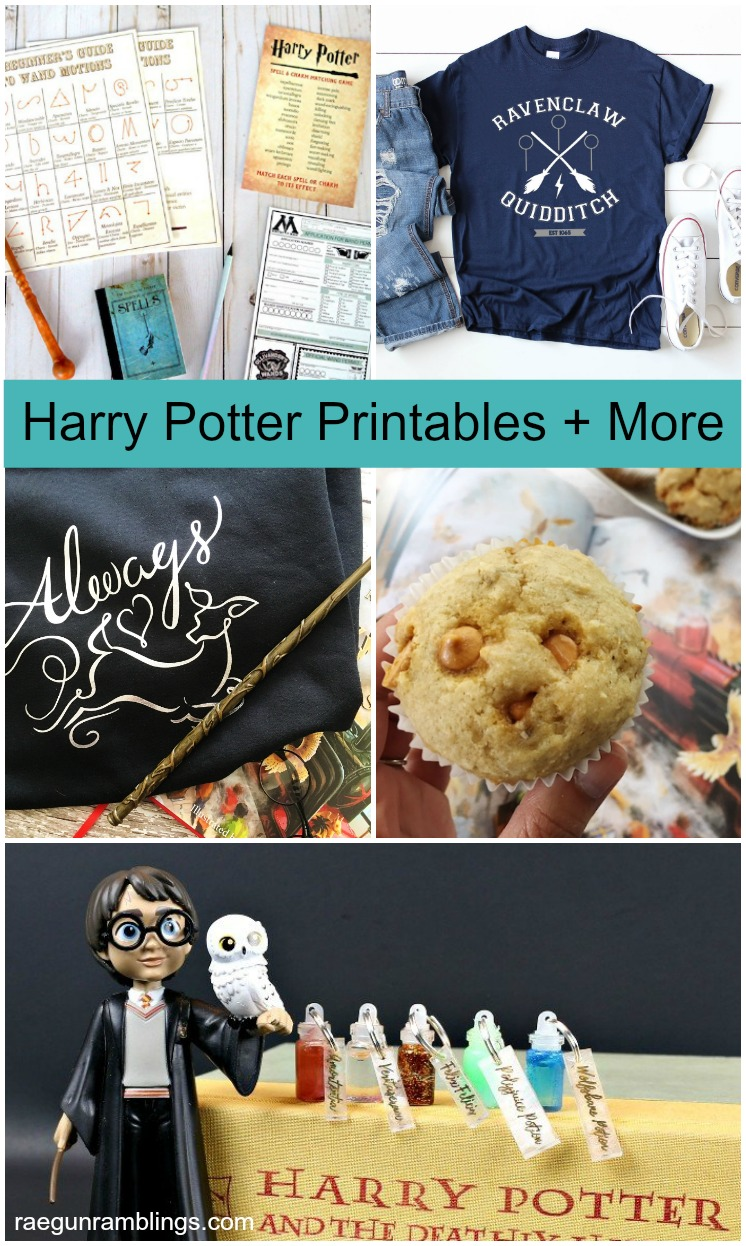 Harry Potter Wand Printables DIY Shirt Designs Butterbeer Muffins Recipe and Mini potions bottles