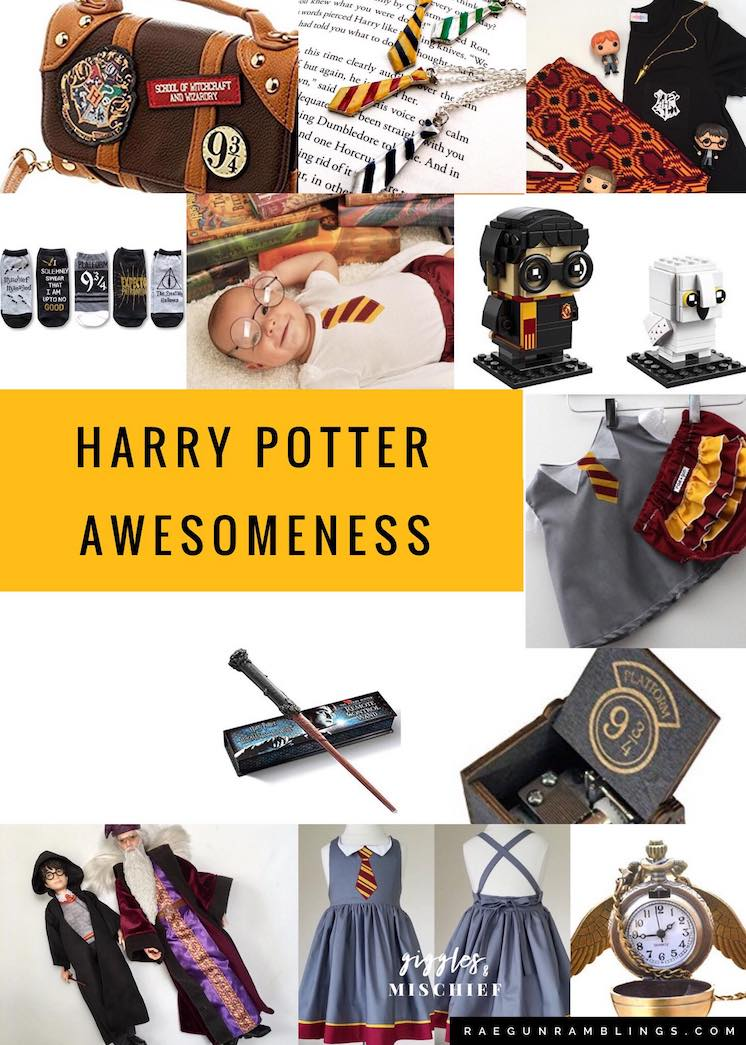 Harry Potter gift ideas for the whole family baby kids mom dad and grandparents