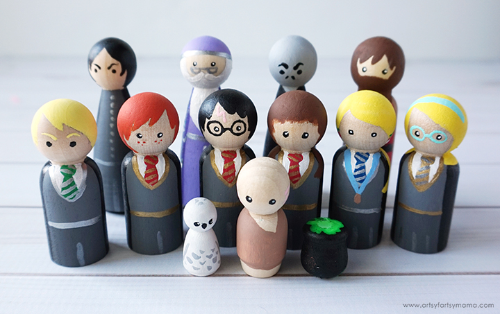How to make Harry Potter Peg people tutorial