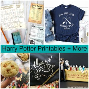 awesome harry potter printables and crafts perfect for Harry Potter parties