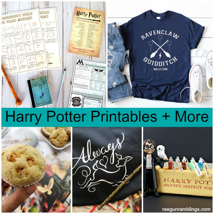 Harry Potter Shirts Wand Printable And Butterbeer Muffins