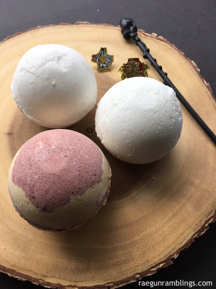 easy recipe for hogwarts house harry potter bathbombs
