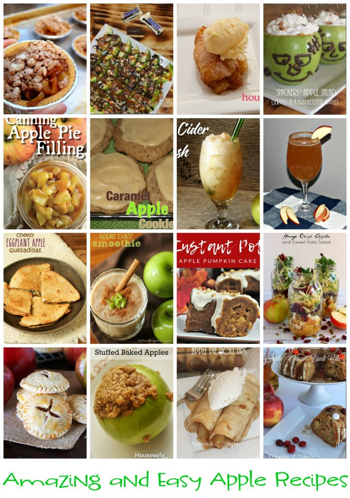 tons of amazing-and-easy-apple-recipes for apple season