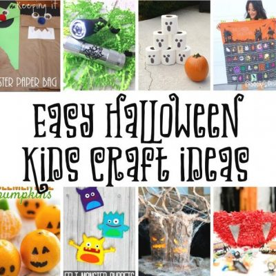 Halloween Kids Crafts and Block Party