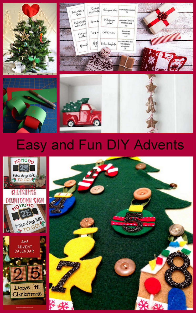 DIY Advent Calendar tutorials and patterns