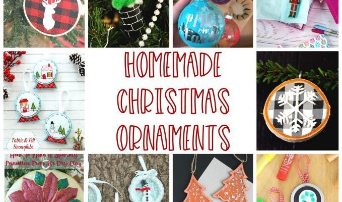 Homemade Christmas Ornaments and Block Party