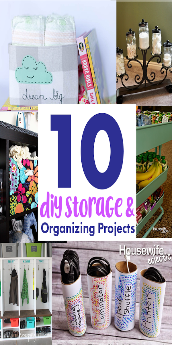 DIY storage and organization projects