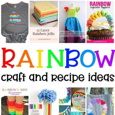 Rainbow Crafts Recipes Ideas and Block Party