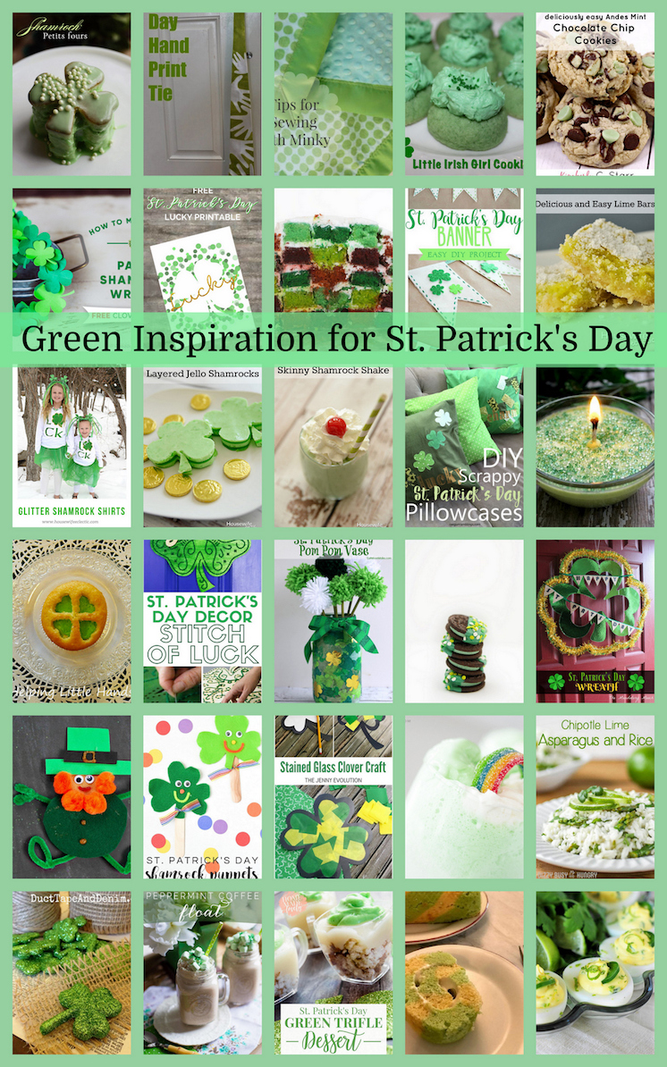 St. Patrick's Day Green DIY projects and recipes
