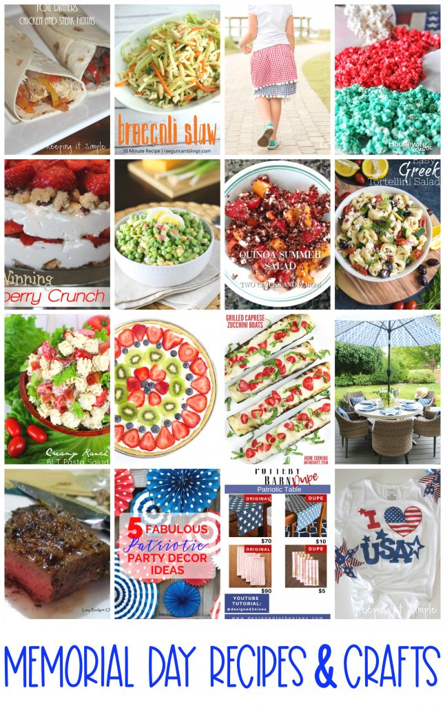 Memorial-Day-recipes-and-crafts perfect for bbqs