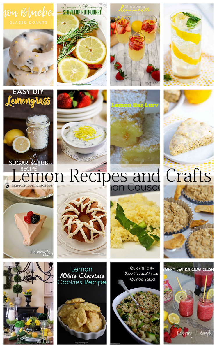 Delicious Lemon Recipes and Crafts