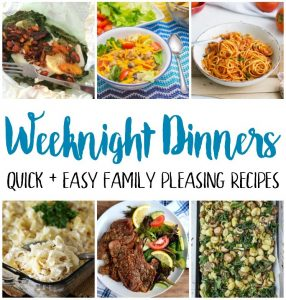 easy family recipes for weeknight dinners
