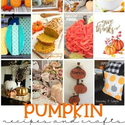 Pumpkin Recipes Crafts and Block Party