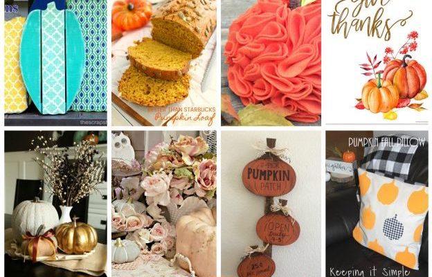 Pumpkin Recipes Crafts and Block Party