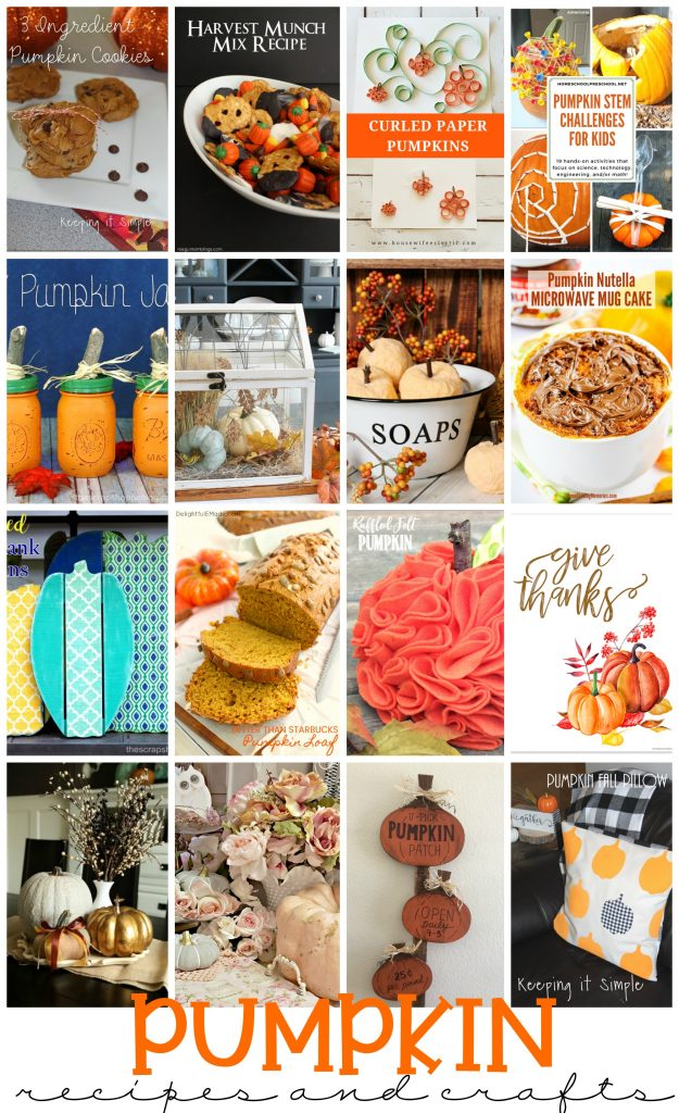 Pumpkin recipe and crafts and party ideas