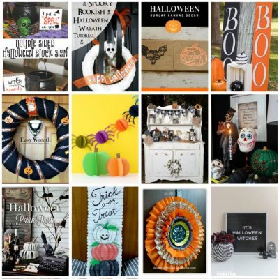 DIY Halloween Decorations and Block Party