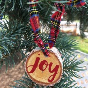 How to make a wood slice ornament. 15 minute diy tutorial via @raegun