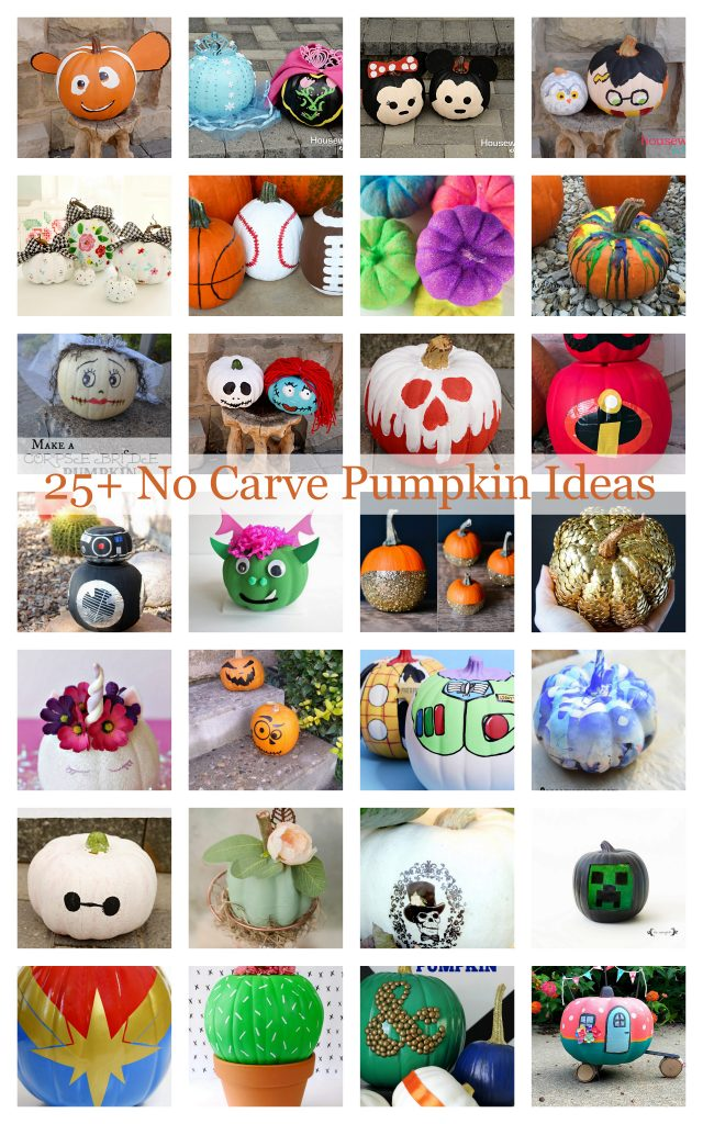 25 DIY No Carve Pumpkin Ideas for kids