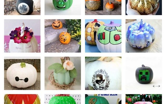 Amazing No Paint Pumpkin Ideas and Block Party