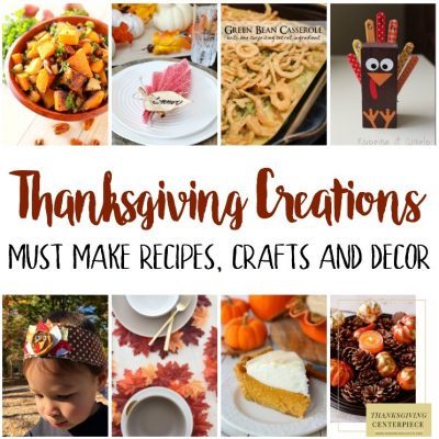 Thanksgiving Recipes Crafts Decor and Block Party