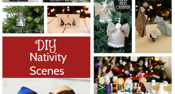 DIY Nativity Sets Tutorials and Block Party