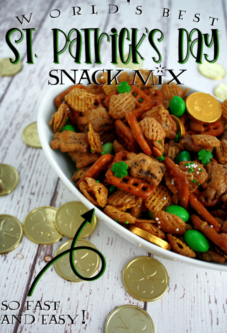 best st. patrick's day snack mix recipe
