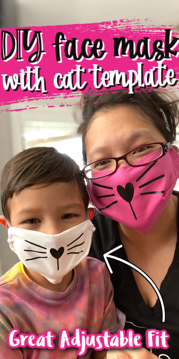 How to make a cat face mask for kids and adults complete with free pattern.
