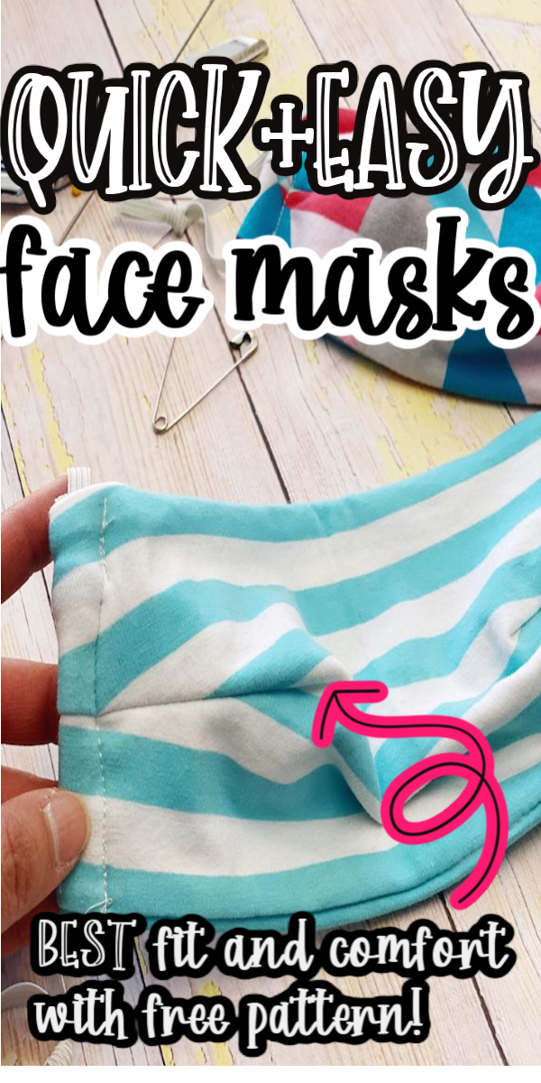 the best fitting easy homemade facemask. fast and great fit with free pattern via @raegun