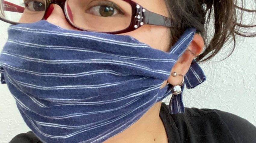 fast new sew mask made from a tshirt. diy insructions