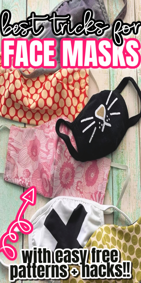 great resource for making face mask. tips tricks and hacks for the best fitting cloth masks. Great step by step video instructions + free pattern.