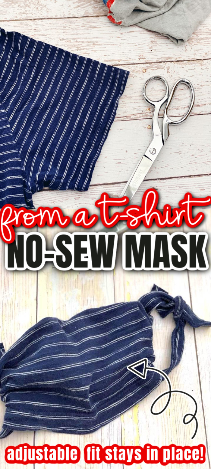 This really works! How to make a face mask from a t-shirt no-sew tutorial in just 5 minutes. via @raegun