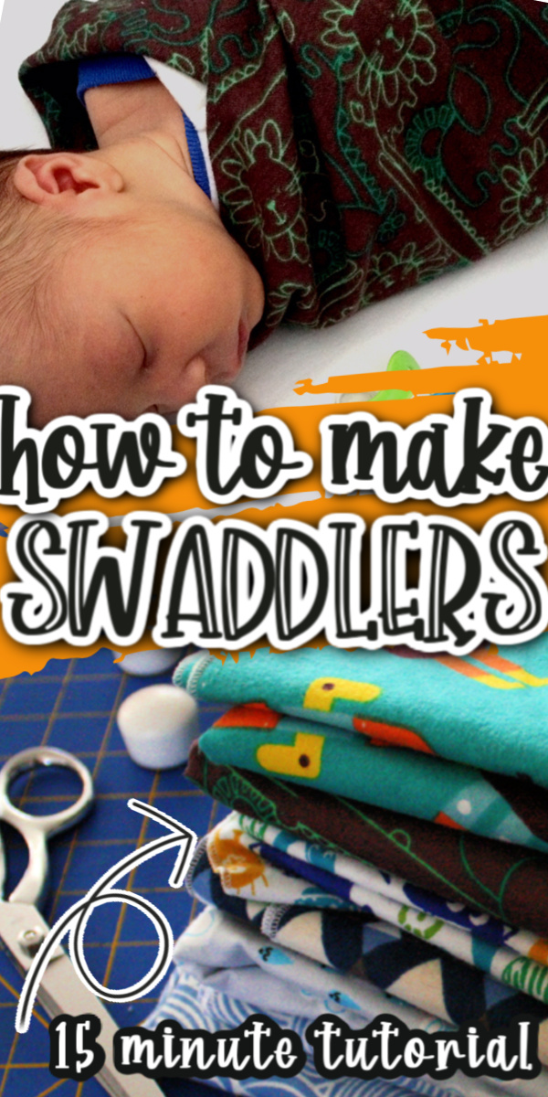 Hands down my favorite baby swaddle blankets. These stay in place and they are so easy to make with this simple 15 minute sewing tutorial. via @raegun