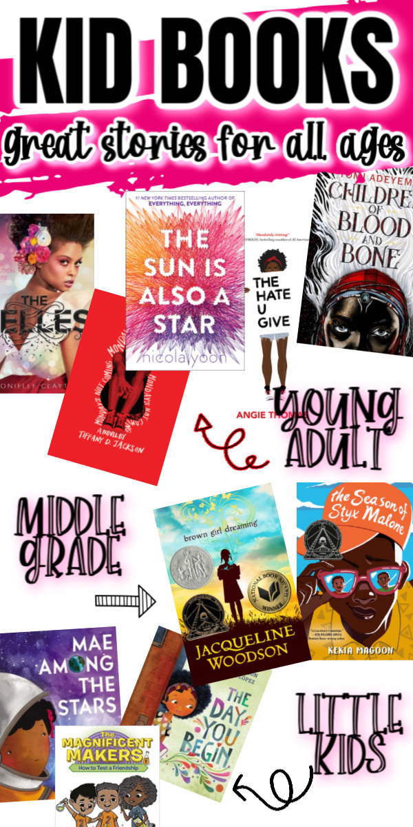 Huge list of children's books for all ages by black authors. Picture books, Middle Grade and Young Adult reads even grown ups will enjoy! via @raegun