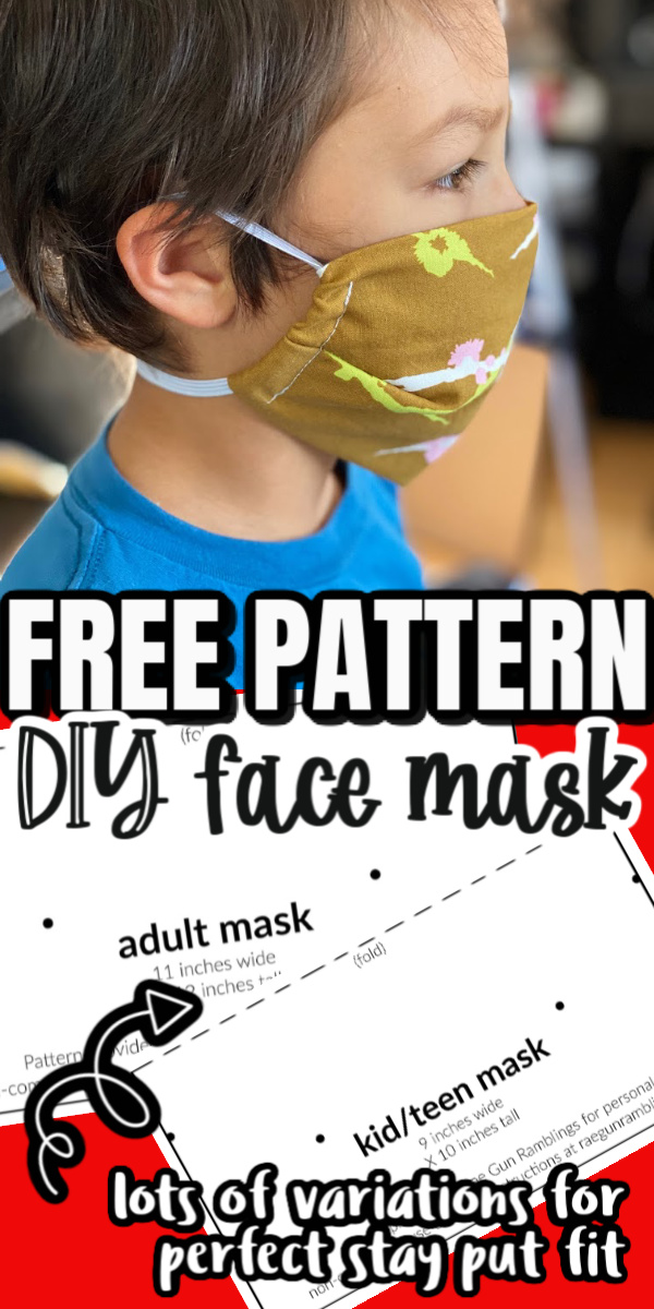 by far my favorite fabric mask. free cloth face mask pattern child and adult sizes copy copy
