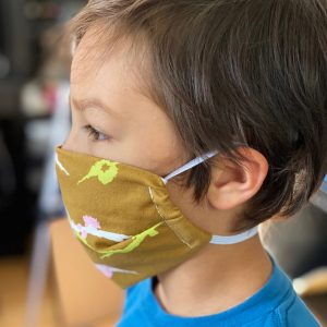 how to make a kid sized face covering that stays on