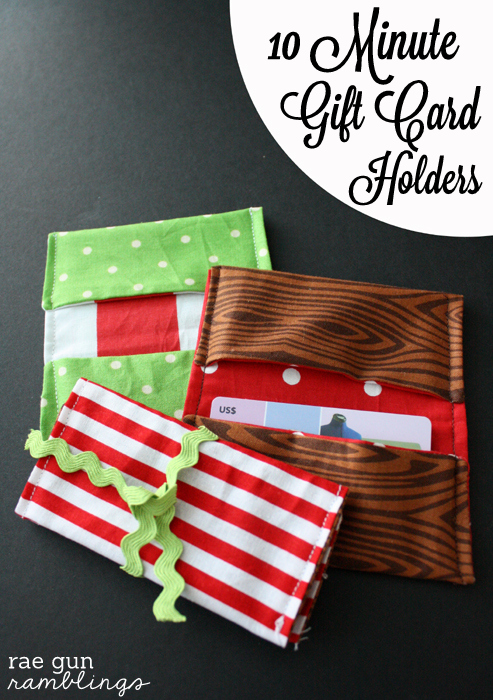 10 Minute Gift Card Holder Tutorial - Rae Gun Ramblings